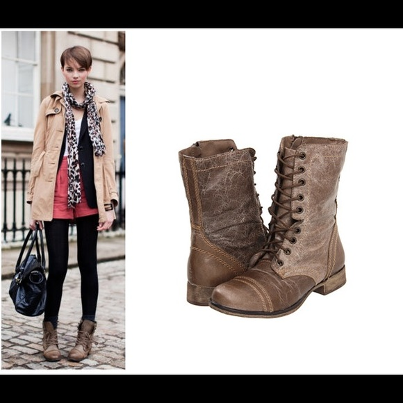 e7b8ff8bfab [Steve Madden] Troopa Tie Up Boots Size 7